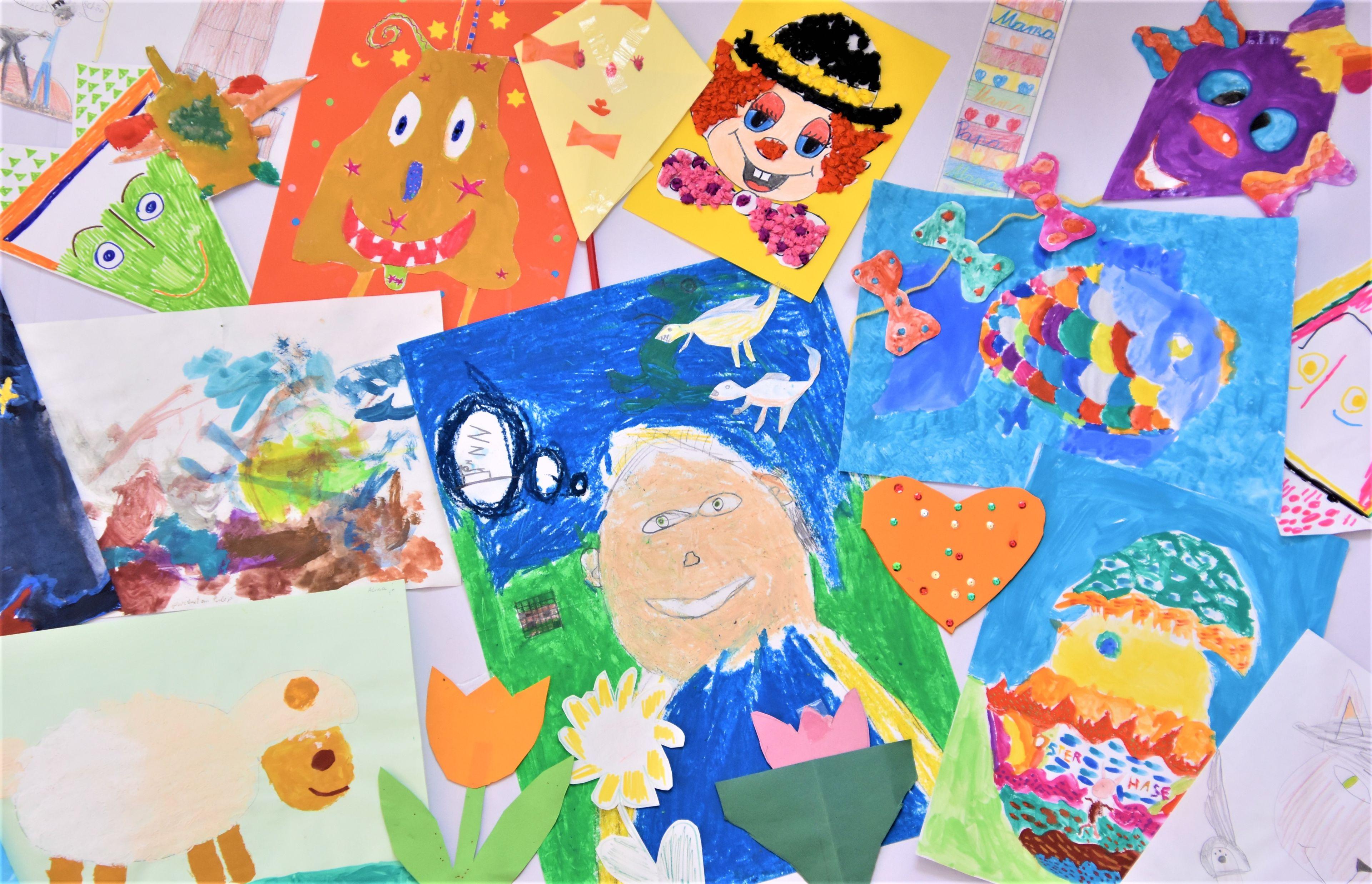 Von Kindern gemalte Bilder